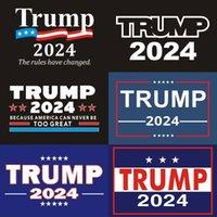 2024 Trump Araba Çıkartmaları 2024 ABD Başkanlık Kampanyası Trump Sticker 14.8 * 21 cm PVC Etiketler Trump 2024 Araba Sticker Tampon Sticker Araba Decor748 T2
