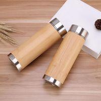 Bamboo in acciaio inox Acciaio inox tazza auto dritto acqua bottiglia viola argilla fodera a tutto zampe regalo di affari DHE6806