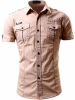 EST WOWHOMME Blusa de hombres Mangas cortas Summer Casual Camisa Whte Black Khaki C112 Camisas