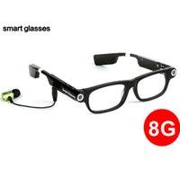 HJ 2021 Smart Record-Videokamera Sonnenbrillen intelligente elektronische tragbare Sonnenbrille mit MP3-Karten-Wahl-Antwort-Anruf Smart-Sonnenbrillen
