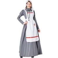 M-XXL Medieval Medical Uniforms Nurse Uniform Cosplay Female Nurses Uniform Suit Halloween Costume