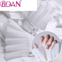 Kits Nail Art BQAN organza ruffled Polsini finti da principessa stile puro pizzo bianco manicure manicure puntelli po
