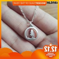 10pcs Lovely tiny pine tree Forest Necklace Range Charm Jewelry Women Girl Gift for Nature love SanLan J1218