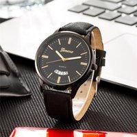 WJ-8775 2021 бизнес мужской часы ретро дизайн кожаный лент аналоговые кварцевые наручные часы роскошные мужские часы erkek kol saati наручные часы