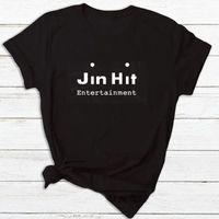 Women's T Shirt JinHit Entertainment Unisex Kpop Women Fashion Cotton Short Sleeve Tshirt Feminina Letter Printed T-shirts