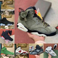 판매 2021 새로운 트래비스 토끼 DMP 6 Mens 농구 신발 Scotts 반사 6s 팅커 블랙 적외선 카민 오레곤 망 트레이너 스포츠 스니커즈