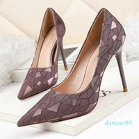 Women Red Bottom High Heels Pointed Toes Luxurys Designers Shoes Genuine Leather Pumps Lady Wedding Sandals 10.5cm Platforms