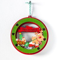 Us Stock Creative Santa Klausel Schneemann Holz Weihnachtsbaum Ornamente Weihnachten Neujahr Party Dekor Home Weihnachtsdekoration