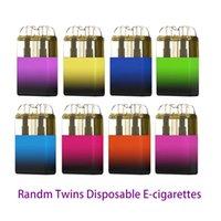 Randm Twins Disposable E cigarettes Pod Device Kit 6000 Puffs 550mah rechargeable Battery 14ml Prefilled Pod cartridges Vape Pen VS Bar Plus XL Randm Dazzle Pro