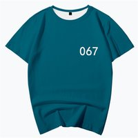 TV Squid Game Men Cosplay Tops T-Shirt Number 067 111 212 218 240 456 Red Green Party Costume Homme Tshirt Male Fashion Tees Clothes Adult Unisex Plus Size 3XL 4XL 5XL 6XL
