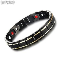 Link, Chain Imixlot 1PC Black Men's Health Bracelets & Bangles Magnetic H Power Stainless Steel Charm Bracelet Jewelry For Man #0043