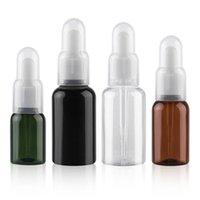 Speicherflaschen Gläser 100pcs / lot 25ml 35ml 50ml Leer raffiniertes öltropfen Flasche Kunststoff Wesentliche Tropfröhre