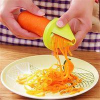 Кухонные инструменты Овощные фрукты Многофункциональный Спиральный измельчитель Peeler Ручной картофель морковь редька вращающаяся терка