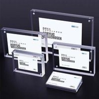90*55mm Table Magnetic Acrylic Price Tag Sign Holder Display Stand Store Desk Picture Photo Label Card Payment Scan Block Frame