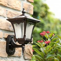 Solar Lamps Led Lights Outdoor High Quality Reflector Super Bright Antique Lighting Wall Lamp Mounted Light For Garden Yard