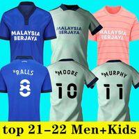 2021 2022 Cardiff Soccer Jerseys City Home Away Moore 21 22 Camisetas de Fútbol Morrison Ralls Murphy Hoilett Leandro Bacuna Marlon Pack Football Shirts S-XXL