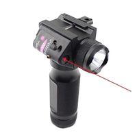 Linterna LED de la luz del agarre táctico delantero con el reemplazo de la modificación de la vista del láser verde rojo para 20 mm Picatinny o Rail Weaver.