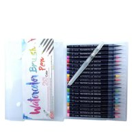 Writing Supplies Office School Business & Industrial Drop Delivery 2021 Real Brush Pens 20 Colors Watercolor Painting With Flexible Nylon Bru