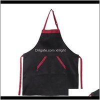 Aprons Textiles Home & Garden Drop Delivery 2021 Womens Mens Chef Kitchen Restaurant Cooking Bib Apron Dress Gift With 2 Pockets1 B0Tnz