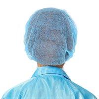 100x Caseras de ducha desechables no tejidas Spa Peluquería SPA PLISADO Anti-polvo Hat Sombrero Polvo a prueba de polvo Cap Hood