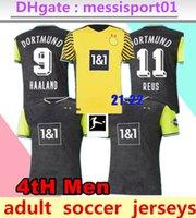 2021 2022 Haaland Borussia Hazard Jersey 2021/22 Chemise de football de Dortmund Reus Noire Sancho Brandt Hommes Troisième Maillot