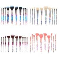 Makeup Brushes 10 Universal Crystal Powder Foundation Eyeshadow Eyebrow Cosmetics For Fan Face Make Up Brush Set