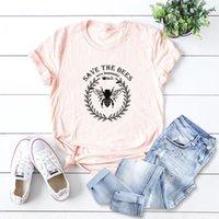Women's T-Shirt Plus Size 5XL Love Bees Print T Shirt Women Oversize Summer T-shirts Female Cotton Short Sleeve Tees Top Woman Casual Tshirt
