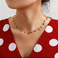 Fashion Simple Clavicle Necklace Choker Personality Geometric Popular Bone Chain Stitching Necklaces