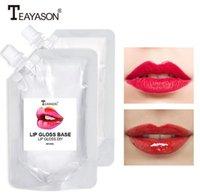 Teeyason Lippen Makeup DIY Klar Lipgloss Lip Gloss Bodenöl Feuchtigkeitsspendende Lippenstift Material Gel Handmade 50ml Feuchte Matte Cream 2 Arten