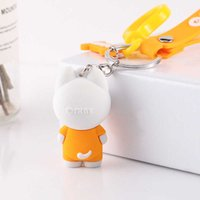 keychain PVC doll key ring glue mascot cartoon pendant IP soft plastic hand blind box