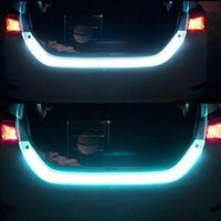 Fluid LED Strip Car Trunk Area Illumination Rear Brake C6B6 Ba Turn Signal 12V Four Type Light Tailgate 1.2m Flow Color O4J8 Emergency Light
