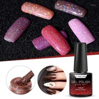 Híbrido glitter gel esmalte vernis semi permanente absorver o top casaco arte laca manicure unhas uv lak polides nails1