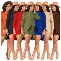 İki Parçalı Set Kaşmir Bayan Kazak Tasarımcılar Giysileri 2020 Yeni Moda Rahat Orta Uzunluk Top ve Şort.