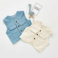 Children's Clothing Baby Denim Wear Vest Girls Boys Sleeveless Spring And Autumn Coat Waistcoat