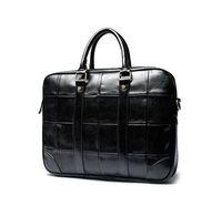 Men's Business Laptop Shoulder HandBag Luxury Briefcases Leather Woven Pattern Big Hand Bag Briefcase Computer Messenger Male Women Bags