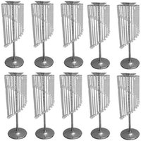 Candle Holders 12pcs)Wedding Centerpiece Crystal Style Flower Stand Tall Table Chandelier Decoration Qq452