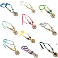 Baby Pickificadores Collar Multicolor DIY Topificador Titulares Molar Natural Wood Juguete Cuentas de lana de ganchillo OWC7338