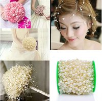5pcs lot 5M Fishing Line Artificial Pearls Beads Chain Garland Flowers Wedding Bridal Bouquet Party DIY Decoration