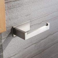 1 PCS Nenhum suporte de papel higiênico polido escovado com fita autoadesiva Titulares de material de aço inoxidável