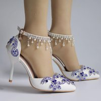 Sandals Women's high heels shoes with rhinestones, thin different crystals. 4DES