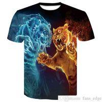 Tiger T Shirt Men 3D Prine Fasted 2019 Nueva camiseta Manga corta O-cuello Moda Hip Hop Tops Camisetas Casual Lobo 3D Masculino Camisetas Jersey