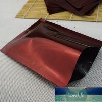 100 sztuk / partia Burgundia Czerwona Platerowanie Ciepła Uszczelniaczalna Folia Aluminiowa Plastikowa torba, Top Otwarty Aline Mylar Pakowanie elektroniki