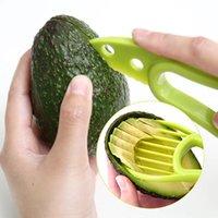 3 sur 1 Outils d'avocat d'avocat Shea core Beurrer Beurre Pepeer Pepener Cutter Pulp Séparateur Plastique Végétal Outil Cuisine Gadgets FHL157-WLL