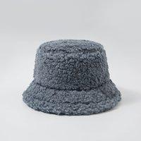 Bayanlar Kalınlaşmak Kuzu Faux Kürk Kova Şapka Sıcak Teddy Kadife Kış Şapkalar Kadınlar Lady Için Düz Renk Açık Peluş Balıkçı Şapka 291 Q2