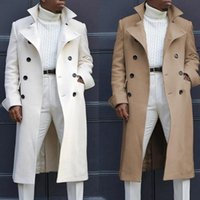 Men's Wool & Blends 2021 Winter Trench Coat Men Jacket High-quality Long Man Casual Slim Collar