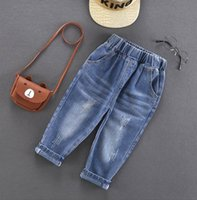 Jeans Boys 2-6Years Spring Autumn Cotton Sport Pants Boy Korean Style Fashion Enfant Garcon Kids Children Leisure Trousers