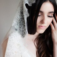Bridal Veils Elegance Ivory Lace Wedding Veil One Layer Cathedral Long Accessories Brides Pography Headdress