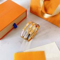 2021 Liebe Armband Armreifen Frauen Männer Titanium Stahl Schraube Schraubendreher Link Gold Silber Rose Nagel Armbänder Schmuck mit Samttasche