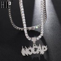 Pendant Necklaces Hip Hop Iced Out Bling No Cap Cubic Zirconia Micro Paved CZ & Pendants For Men Jewelry With Tennis Chain