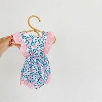Mamores Milancel 2021 Verano Bebé Body Bodysuit Nerborn Ropa con volantes Manga Infantil One Piece Outerwear